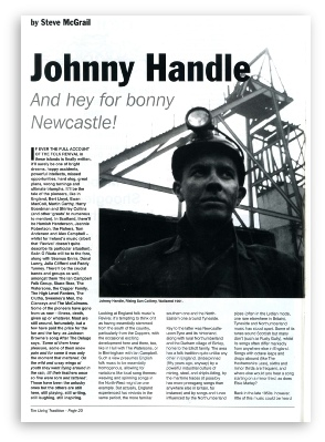 Johnny Handle Press Cutting